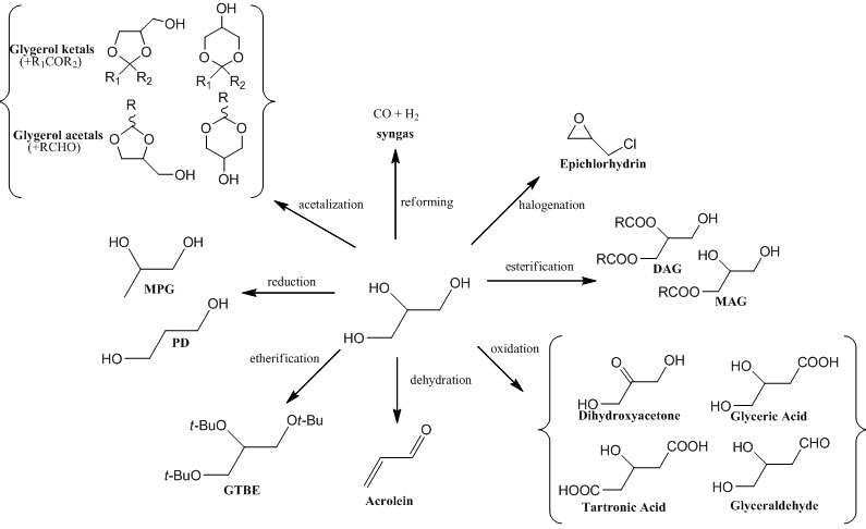 glycerol as building block for new synthesis